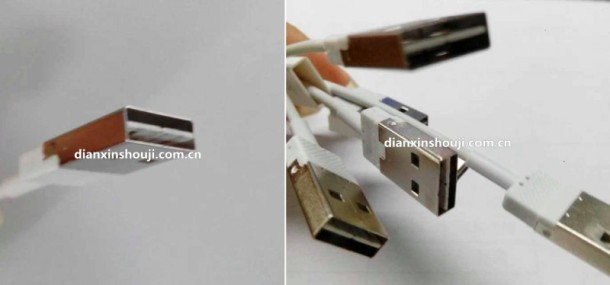 Reversible USB lightning cables