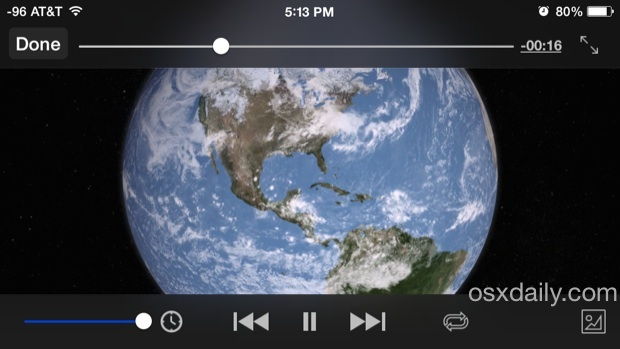 VLC video playback controls in iOS for watching movies