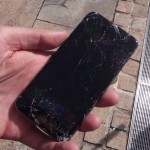 Broken iPhone 6 from drop test