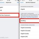 Add a new keyboard in iOS