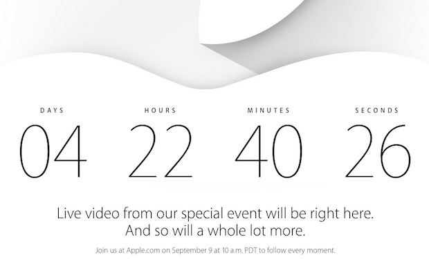 Apple iPhone 6 event livestream and countdown