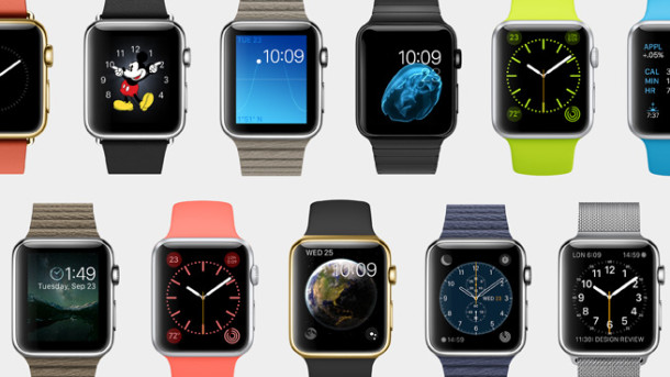 Various Apple Watch models