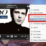 Create a new iTunes Radio station from a song or artist