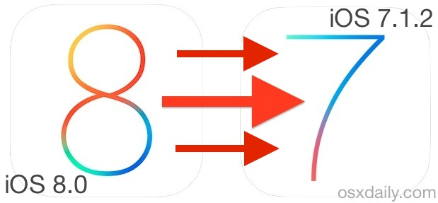 Downgrade iOS 8 to iOS 7.1.2