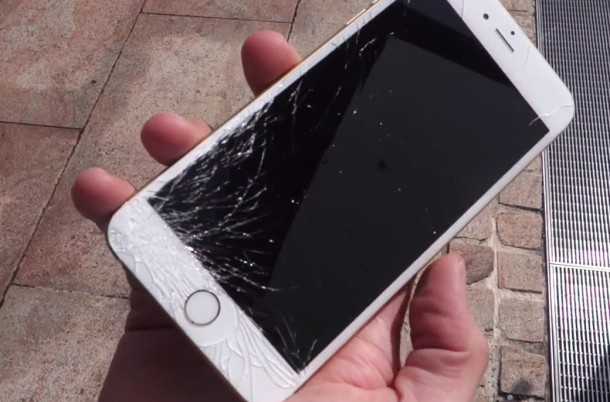 Dropped iPhone 6 Plus with broken glass