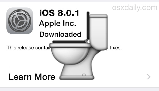 Flush iOS 8.0.1 buggy update