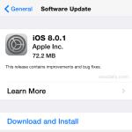 iOS 8.0.1 OTA download