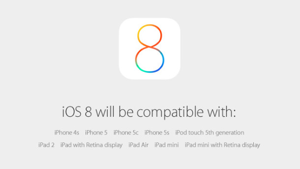 iOS 8 Compatibility and Release Date