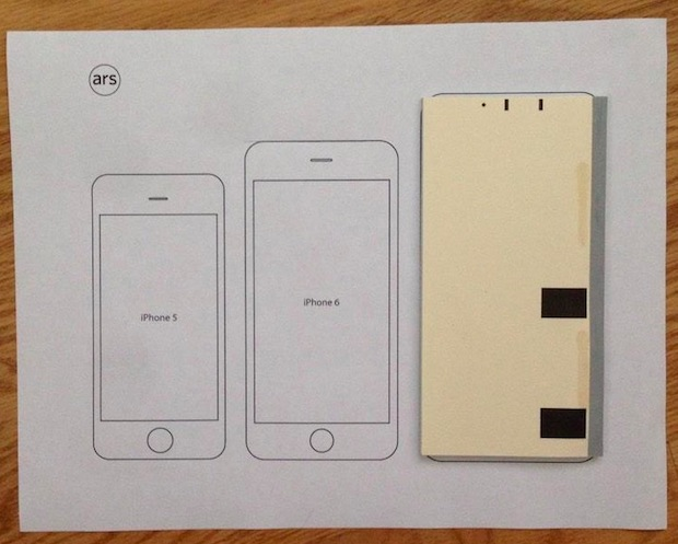 iPhone 6 Plus is about the size of a stack of checks from a checkbook