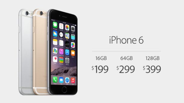 cost of an iphone 6 iphone 6 pricing starts at 199 16835
