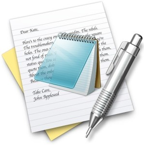Mac TextEdit app is a Notepad equivalent
