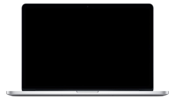 MacBook Pro with dimmed screen
