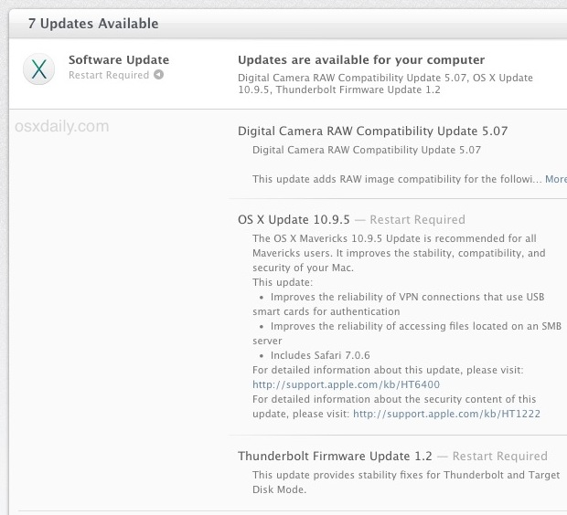 OS X 10.9.5 Update for Mac