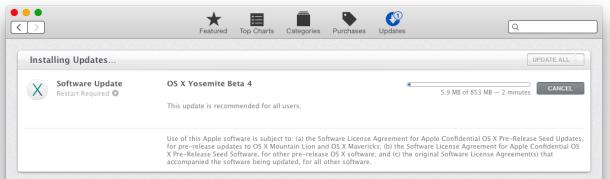 OS X Yosemite Public Beta 4