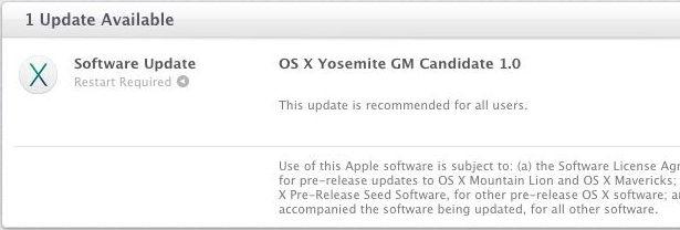 OS X Yosemite GM 1.0