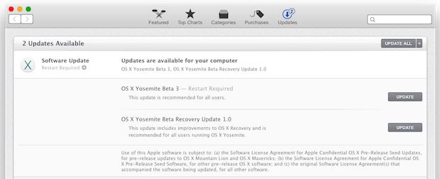 OS X Yosemite Public Beta 3