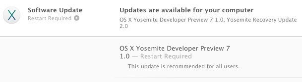 OS X Yosemite Developer Preview 7