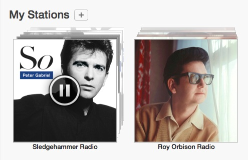 Playing a newly created iTunes Radio station