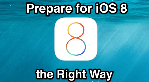 Prepare for iOS 8 Update