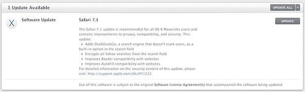 Safari 7.1 for OS X