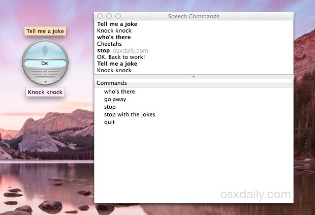 Tell Me A Joke to Speakable Items in Mac OS X
