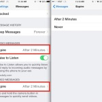 Auto delete multimedia messages in iOS