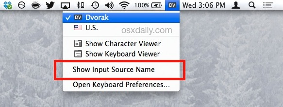 Current language typing indicator in OS X