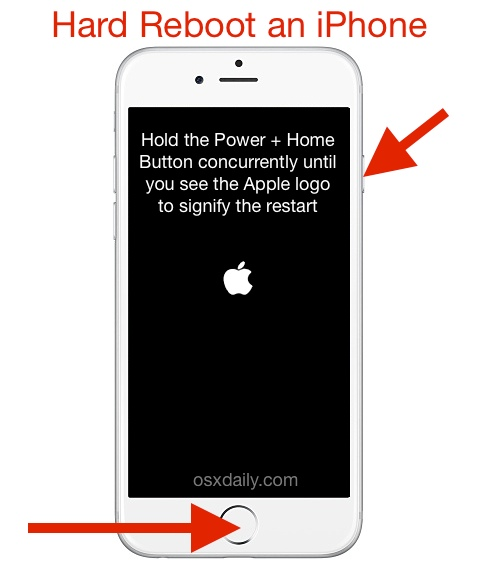 Force restart an iPhone