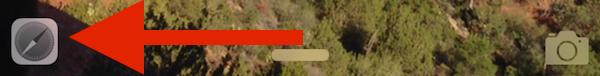 Handoff icon on the lock screen of iOS