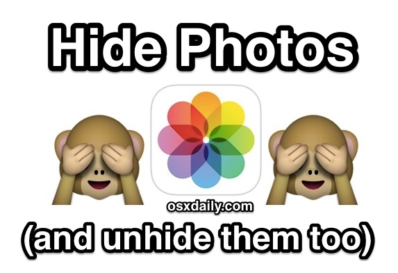 How to hide pictures in iOS