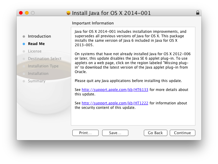Installing Java in OS X Yosemite