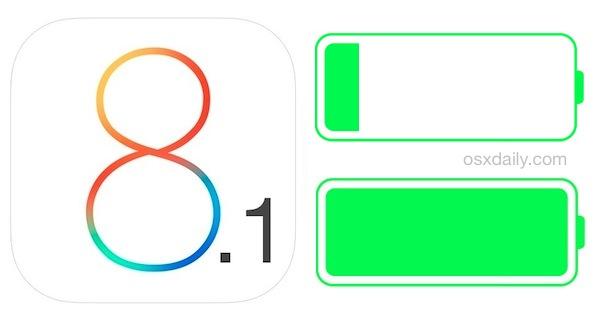iOS 8.1 battery life