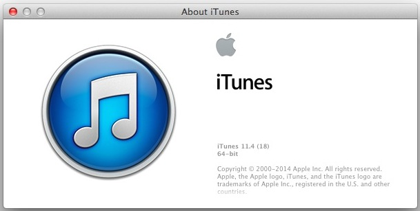 iTunes 11.4 downgraded from iTunes 12
