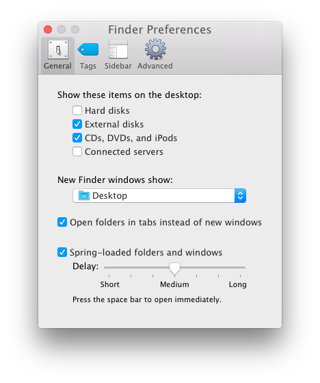 New Finder windows open to static folder
