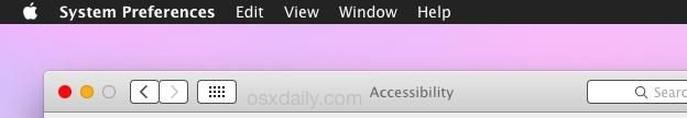 OS X Dark mode