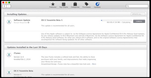OS X Yosemite Beta 5