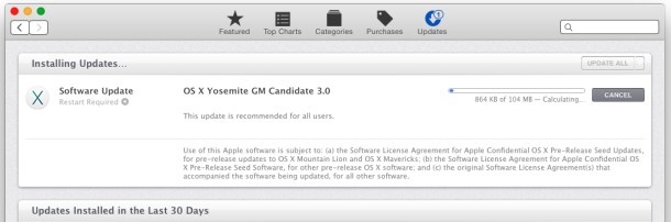 OS X Yosemite GM 3.0 Update