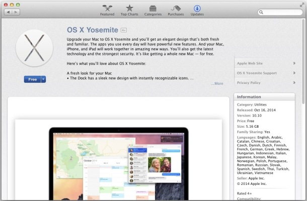 Apple os x 10.10 download