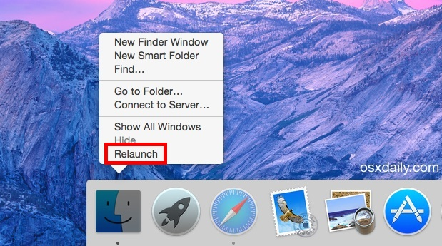 Relaunching Finder