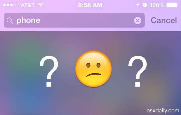 Spotlight not working in iOS