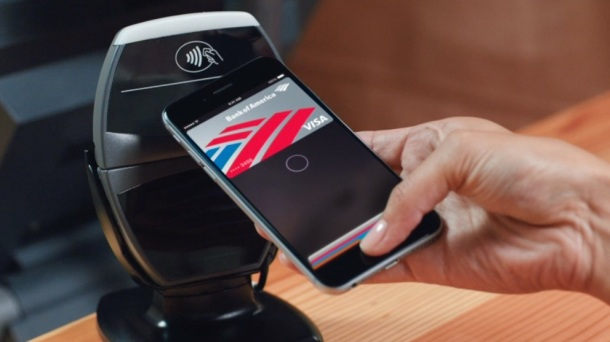 Apple Pay being used with iPhone