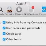 Edit autofill information in Safari for OS X