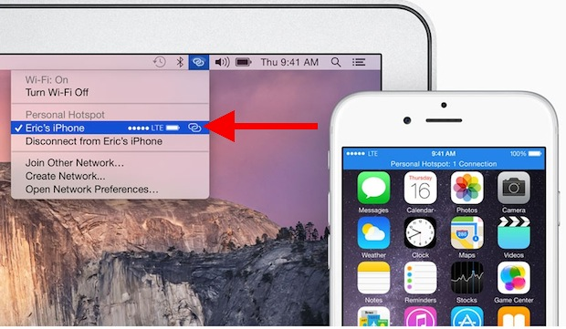 Instant Hotspot in Mac OS X and iPhone for quick wi-fi sharing