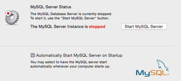 MySQL Start and Stop server in Mac OS X