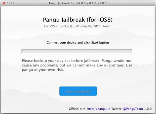 Pangu8 jailbreak for iOS 8.1 and Mac OS X
