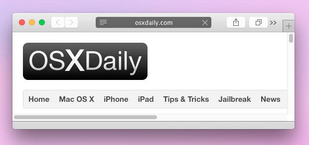 Private browsing window in Safari OS X
