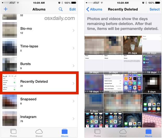 How To Recover Deleted Photos Video From Iphone Ipad The Easy Way Osxdaily