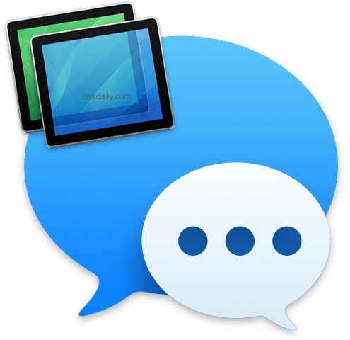 Screen Sharing from Messages in Mac OS X