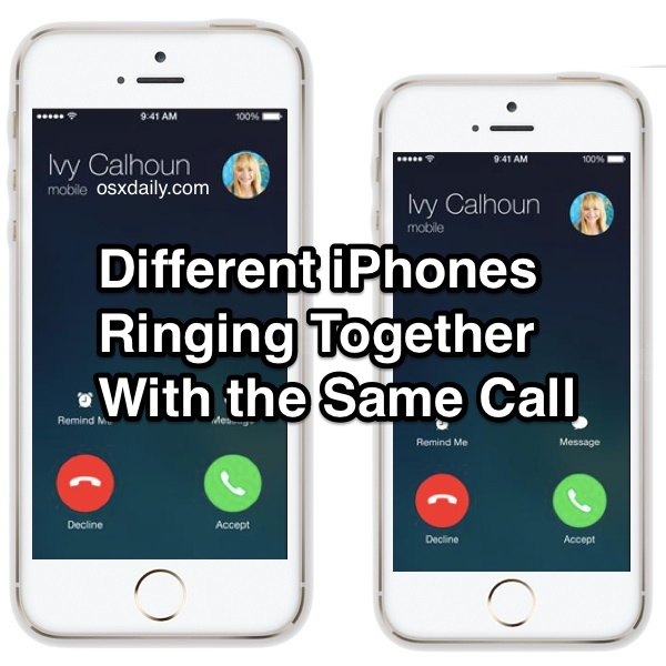 Different iPhones Ringing Together At the Same Time
