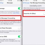 Enable SMS Text Messages on a Mac from iOS